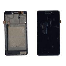 Матрица с тачскрином (модуль) Lenovo P780 черный с черной рамкой