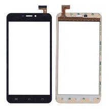 Тачскрин (Сенсорное стекло) для смартфона Bravis Zeus черный. Размер: 165x85 mm, 30 pin
