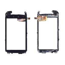 Тачскрин (Сенсорное стекло) для смартфона HTC Nexus One черный с рамкой