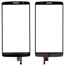 Тачскрин (Сенсорное стекло) для смартфона LG G3 D855 черный с серым