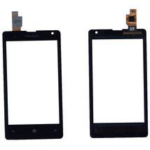 Тачскрин (Сенсорное стекло) для смартфона Microsoft Lumia 532 Dual Sim черный