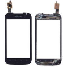 Тачскрин (Сенсорное стекло) для смартфона Philips Xenium W635 черный