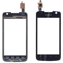 Тачскрин (Сенсорное стекло) для смартфона Philips Xenium W6350 черный