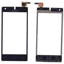 Тачскрин (Сенсорное стекло) для смартфона Philips Xenium W737 черный
