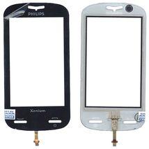 Тачскрин (Сенсорное стекло) для смартфона Philips Xenium X800 черный