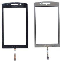 Тачскрин (Сенсорное стекло) для смартфона Philips Xenium X806 черный