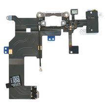 Шлейф с разъемом питания (Dock Connector) для Apple iPhone 5 белый, Шлейф питания iPhone 5 WH