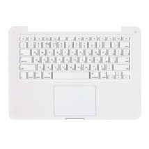 """Клавиатура для ноутбука Apple MacBook Pro (A1342) White, (No Frame), RU (вертикальный энтер) топ-панель белая 13,3"""""""