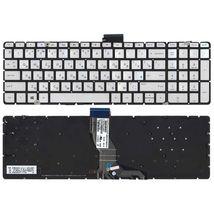 Клавиатура для ноутбука HP Pavilion (15-ab) Silver с подсветкой (Light), (No Frame) RU