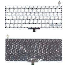 """Клавиатура для ноутбука Apple MacBook 13.3"""" for Intel (A1181) White, (No Frame), RU (вертикальный энтер)"""