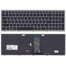 Клавиатурадля ноутбука Lenovo IdeaPad (G505S, Z510) с подсветкой (Light), Black, (Silver Frame), RU