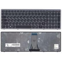 Клавиатура для ноутбука Lenovo IdeaPad Flex 15, G500S, G505, G505A, G505G, G505S, S500, S510, S510p, Z510, Black, (Silver Frame), RU