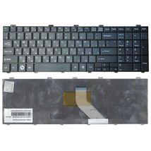 Клавиатура для ноутбука Fujitsu LifeBook (AH530, AH531, NH751) Black, RU (горизонтальный энтер)