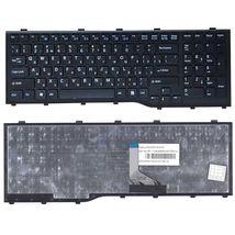 Клавиатура для ноутбука Fujitsu LifeBook (AH532, NH532) Black, (Black Frame), RU (горизонтальный энтер)