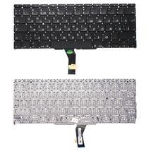 Клавиатура для ноутбука Apple MacBook Air 2011+ A1370 (2010, 2011 года), A1465 (2012, 2013, 2014, 2015 года) с подсветкой (Light) Black, (Original), (No Frame), RU (вертикальный энтер)
