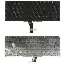 """Клавиатура для ноутбука Apple MacBook Air 11"""" 2010+ A1370 (2010, 2011 года), A1465 (2012, 2013, 2014, 2015 года) Black, (No Frame), RU (вертикальный энтер)"""