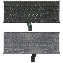 Клавиатура для ноутбука Apple MacBook Air 2011+ (A1369) с подсветкой (Light), Black, (No Frame), RU (вертикальный энтер)