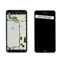 Матрица с тачскрином (модуль) для Asus PadFone mini 4.3 черный с рамкой