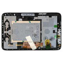 Матрица с тачскрином (модуль) для Lenovo IdeaTab A2107 черный с рамкой