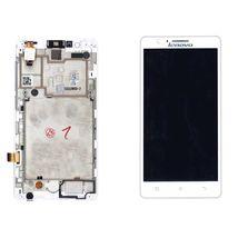 Матрица с тачскрином (модуль) для Lenovo IdeaPhone A536 белый с рамкой