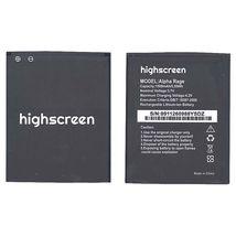 Оригинальная аккумуляторная батарея для смартфона Highscreen Alpha Rage 4.2V Black 1500mAh 5.55Wh