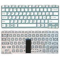 Клавиатура Sony (SVE14A) White, (No Frame) RU